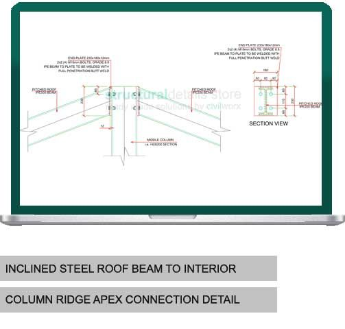 Inclined Steel Roof Ridge Beam To Interior Column Connection ...
