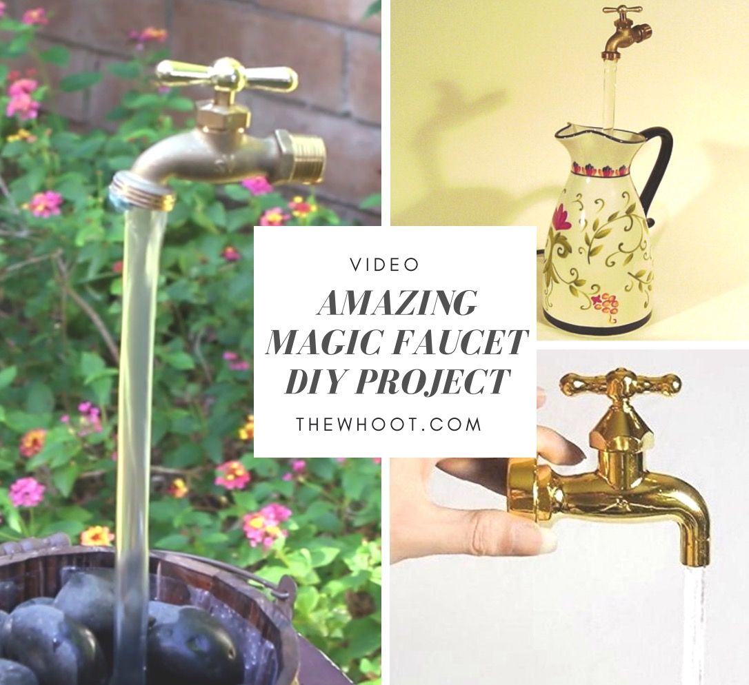 DIY Magic Faucet Fountain | Faucet, Fountain and Water