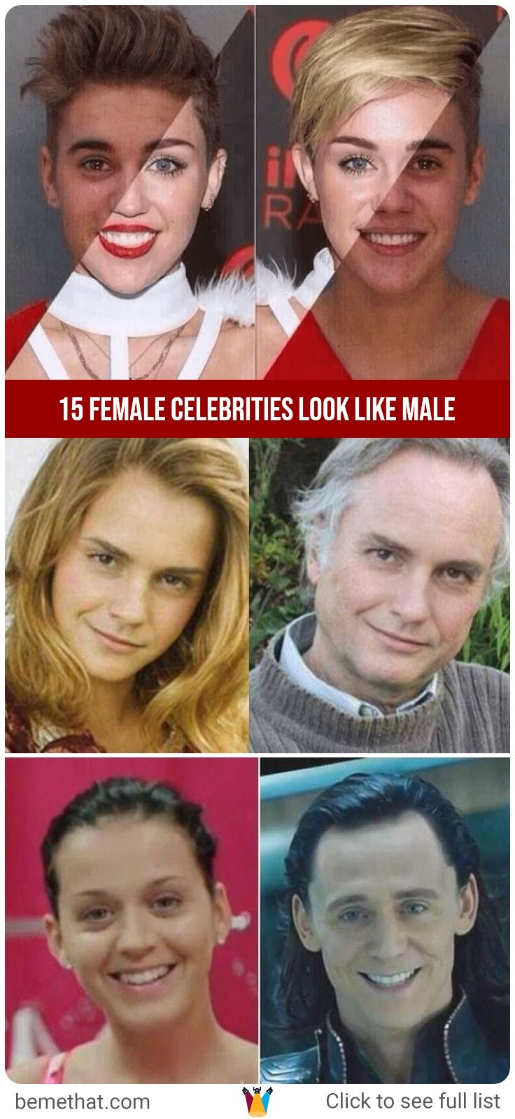 Male-like female celebrities