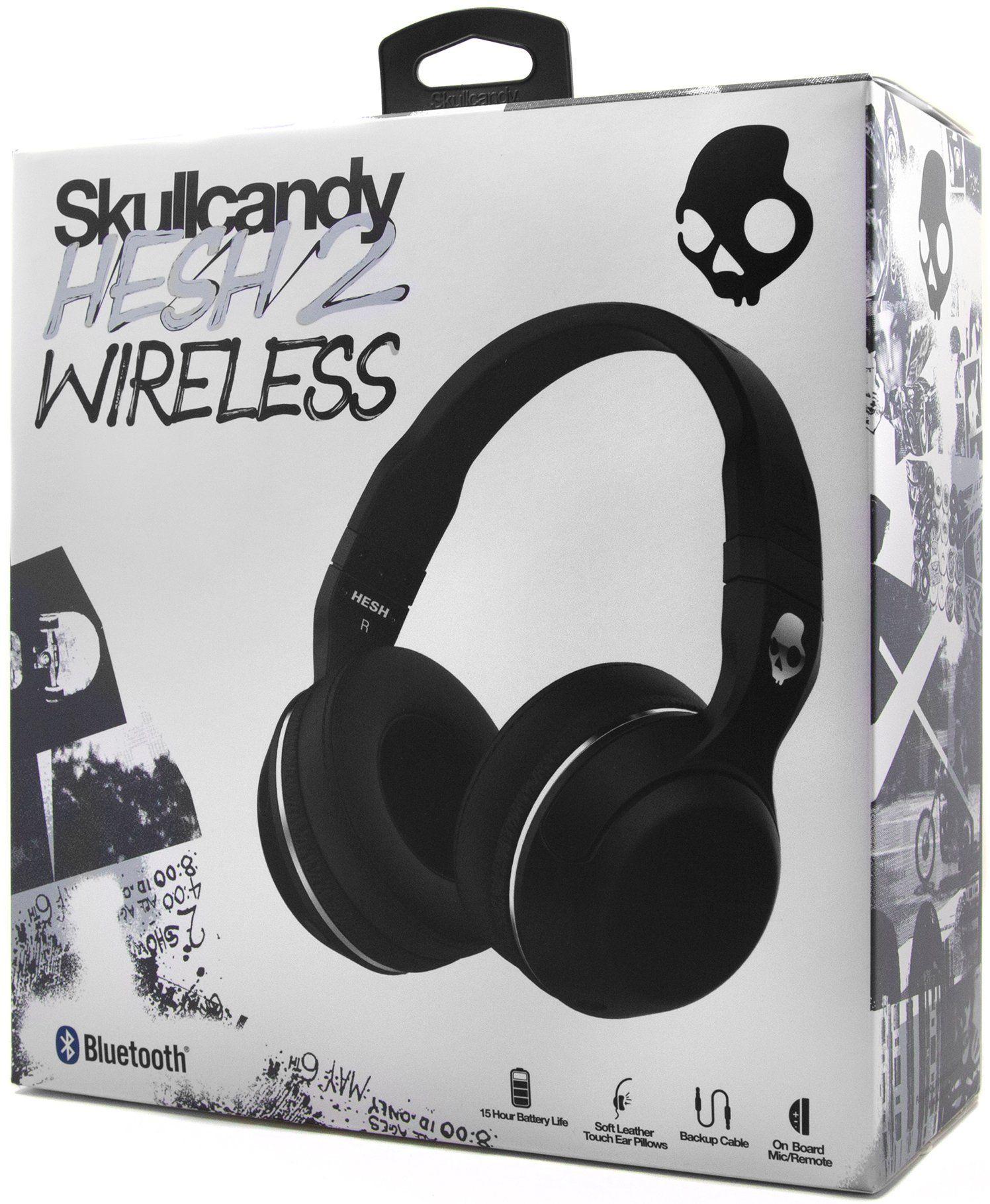 Skullcandy Hesh 2 Wireless Headphones Black In 2020 Wireless Headphones Skullcandy Hesh Headphones