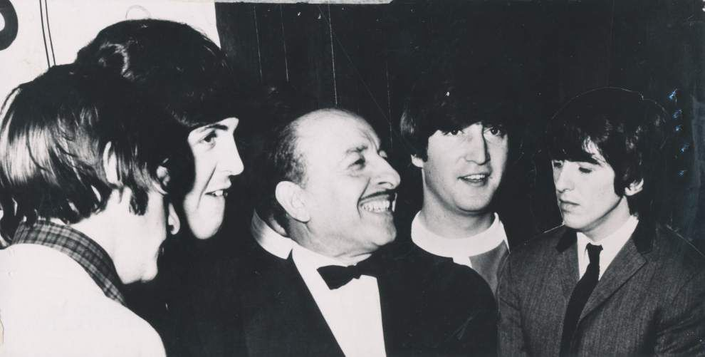 The Beatles: Recalling the mob scene in City Park 50 years ago Photo provided by WYES/Bruce Spizer -- New Orleans Mayor Victor Schiro, center, meets the Beatles.