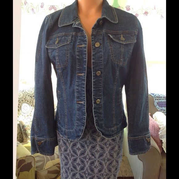 NWOT You're Gonna Love This Tribal Sport Jacket This Denim jacket is really cute and a must have to go with jeans or dress it up with a evening dress. Tribal Sport Jackets & Coats Jean Jackets