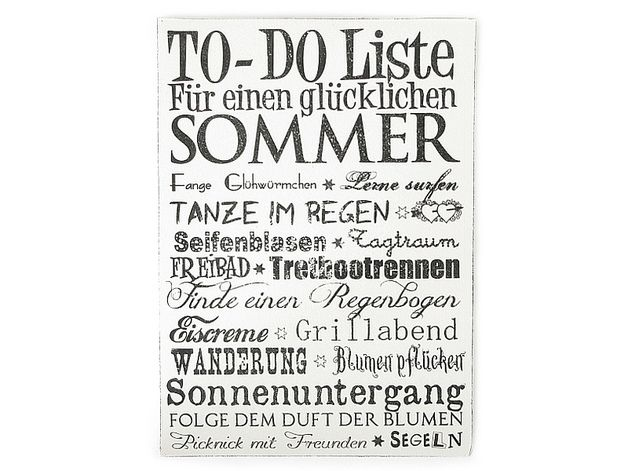 Fabulous TO DO LISTE SOMMER Shabby Vintage Wandtafel Holz