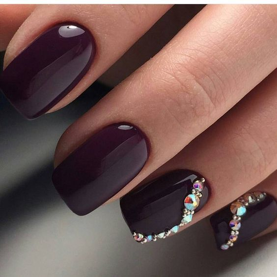 Simple Bling Nail Design Short Nails Art Pinterest Bling Nails