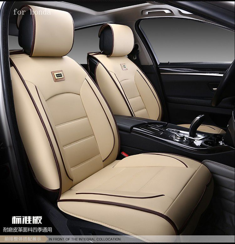 High Quality For Honda Civic 2006 2011 Accord Fit Crv Red Black Waterproof Soft Pu  Leather Car Seat Covers Easy Clean Front U0026rear Full Seat