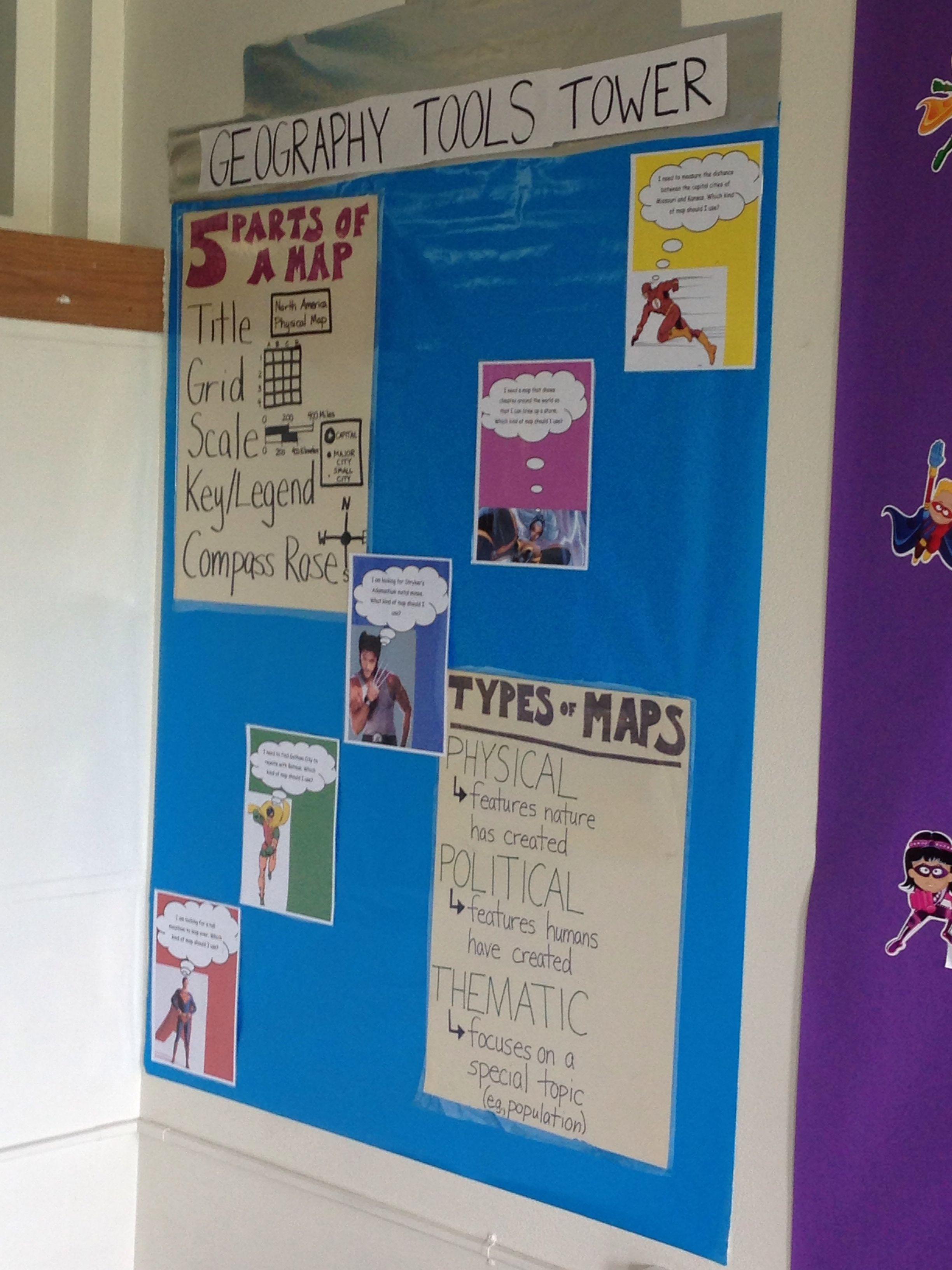 Superhero Classroom Geography Skills