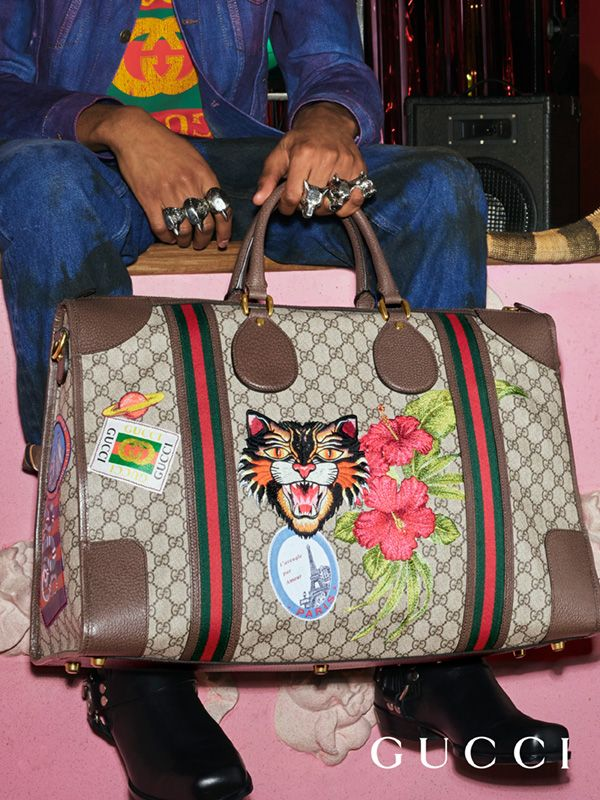 9411e6f18e1 Gucci Courrier Soft Gg Supreme Duffle Bag Duffle Bags