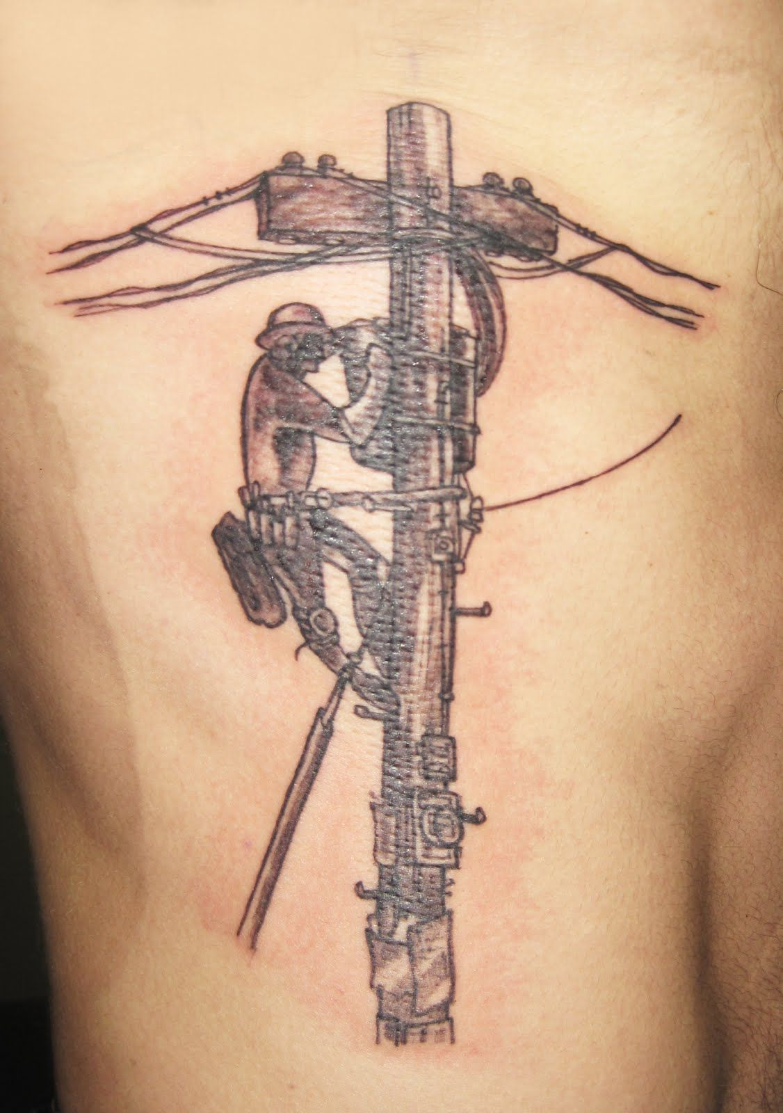 Lineman Tattoos On Arm : lineman, tattoos, Telephone, Lineman, Tattoo,, Lineman,, Tattoos