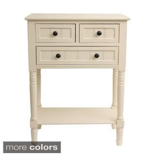 Decor Therapy Simplify Accent Table White Console tables