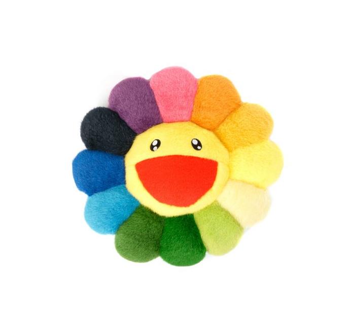 New! Takashi Murakami Rainbow Flower Cushion Kaikai Kiki
