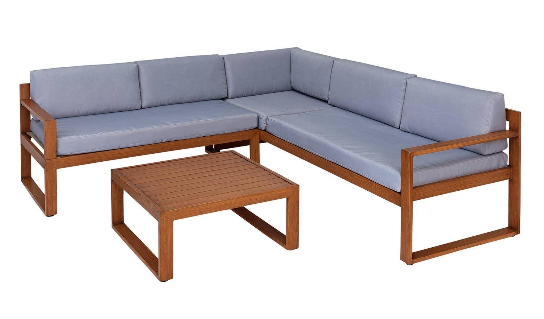 Amazing Home 5 Seater Aluminium Corner Sofa Set Wood Effect In Pdpeps Interior Chair Design Pdpepsorg