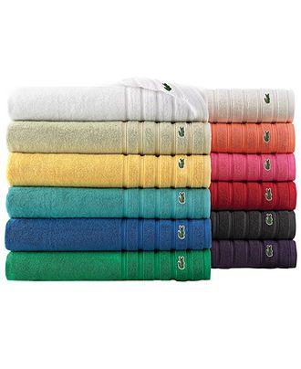 Macysdreamfund Boring Bathroom Brighten Up With Color Lacoste Bath Towels Buy Now Towel Bath Towels Towel Collection