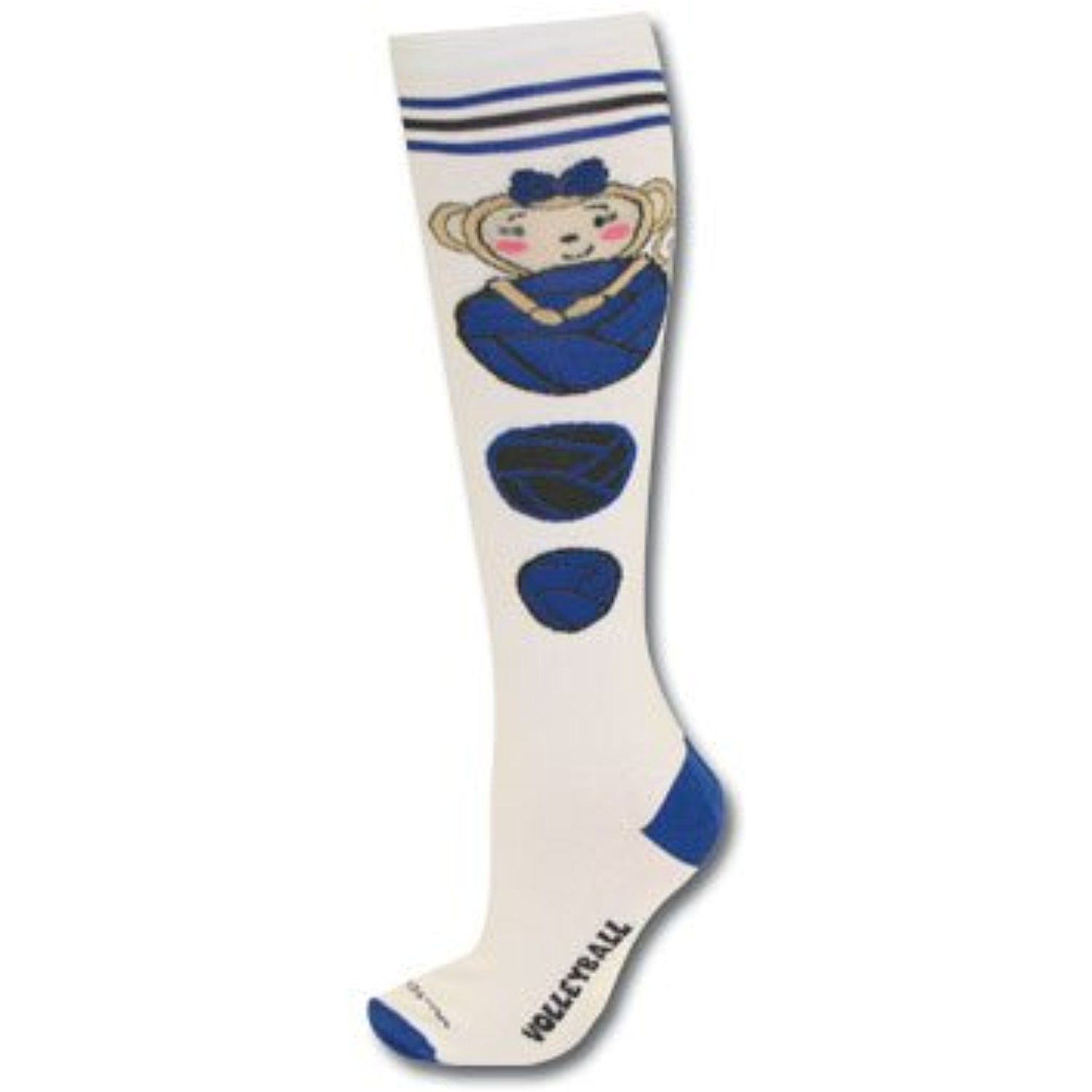 Sports Katz Maisy Monkey Volleyball Socks Learn More By Visiting The Image Link This Is An Affiliate Link Socks With Images Volleyball Socks Socks Volleyball