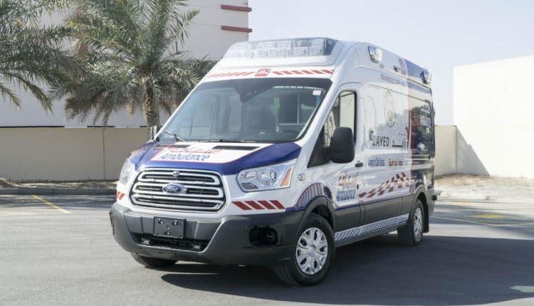 مؤسسة دبي لخدمات الإسعاف تكشف رسميا عن سيارة إسعاف المستقبل Ford Transit Car Suv