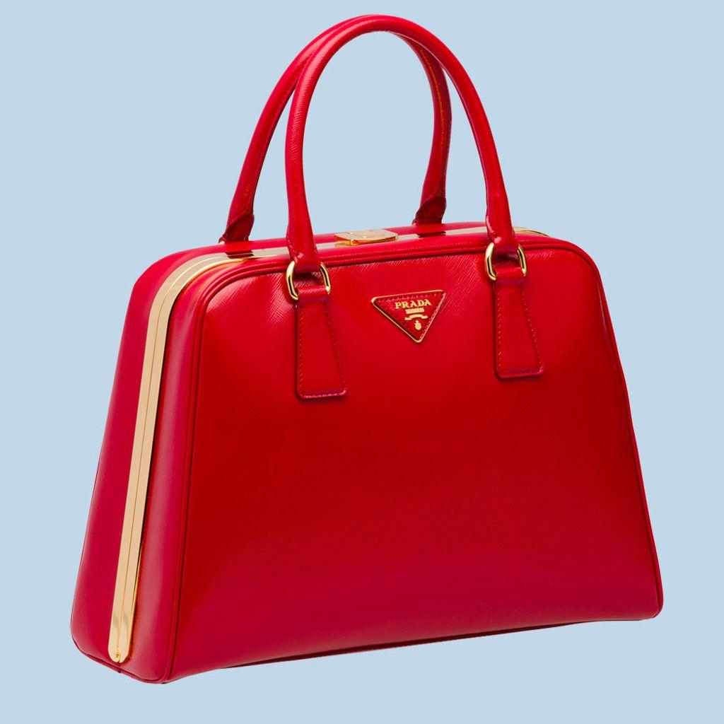 Prada Pyramid Frame Bag BL0808 - Red