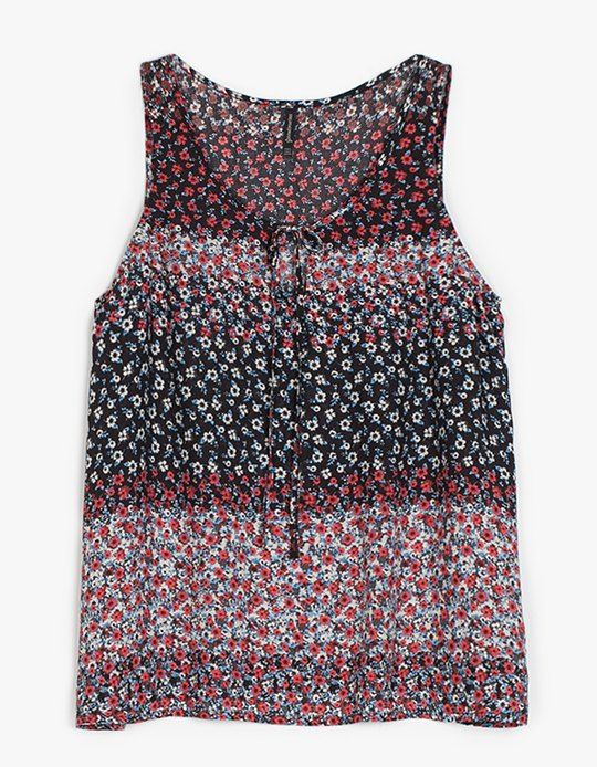 Top estampado cordones - CAMISAS - WOMAN | Stradivarius Mexico