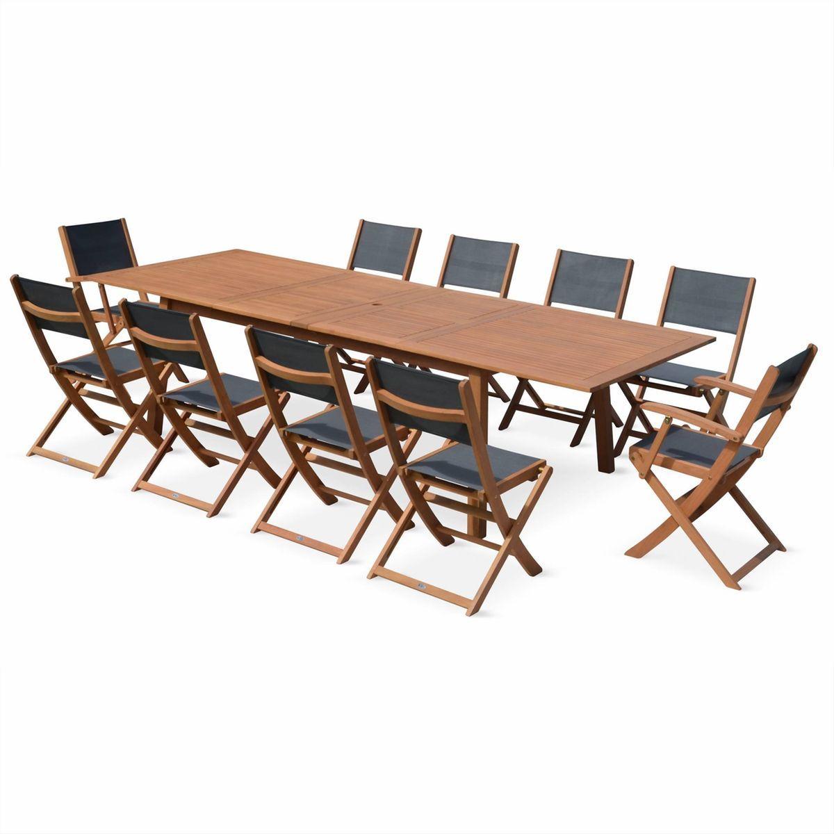 Table de jardin en bois Almeria 200-250-300m rectangulaire ...