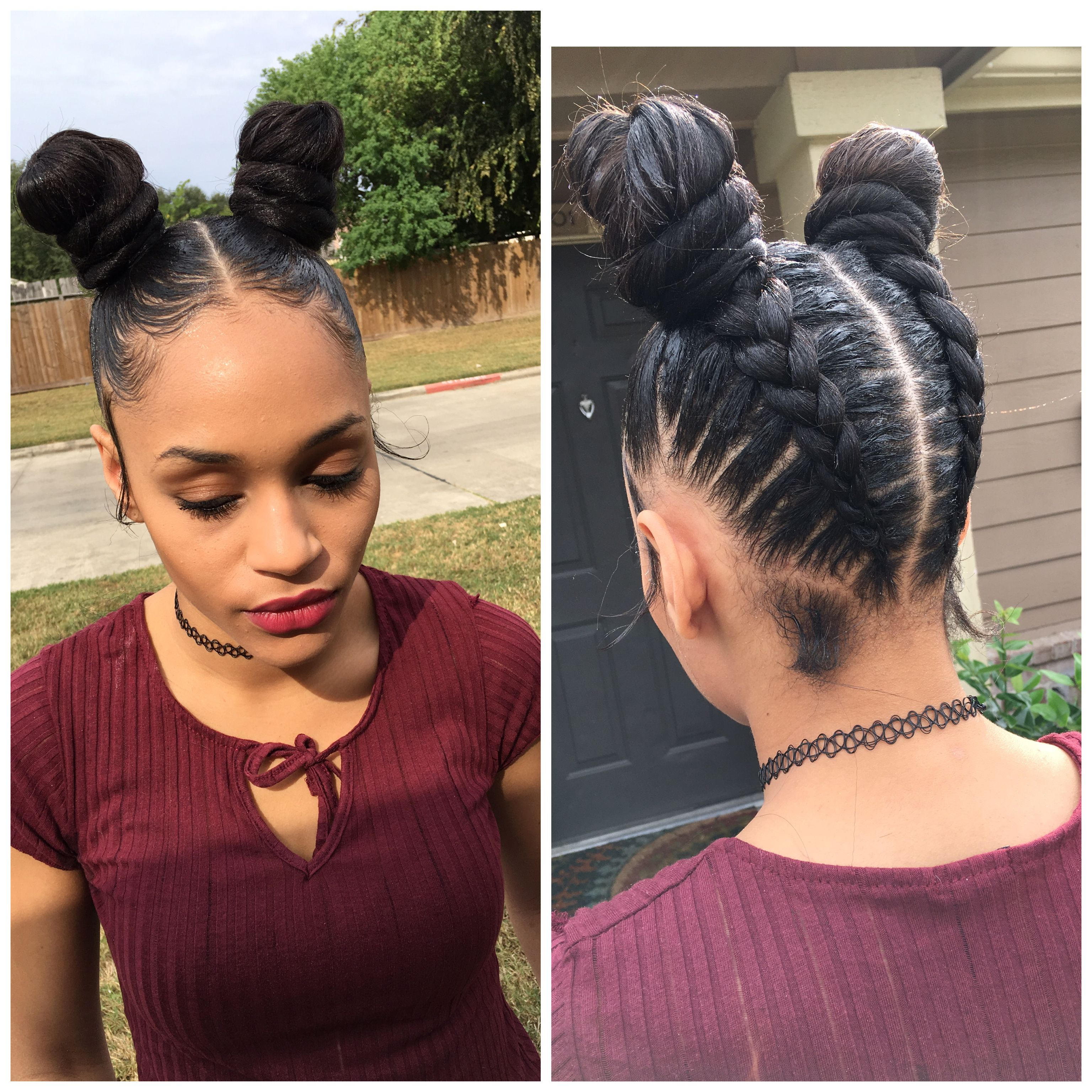 Knots Buns Feedin Braids With Images Feed In Braids Hairstyles