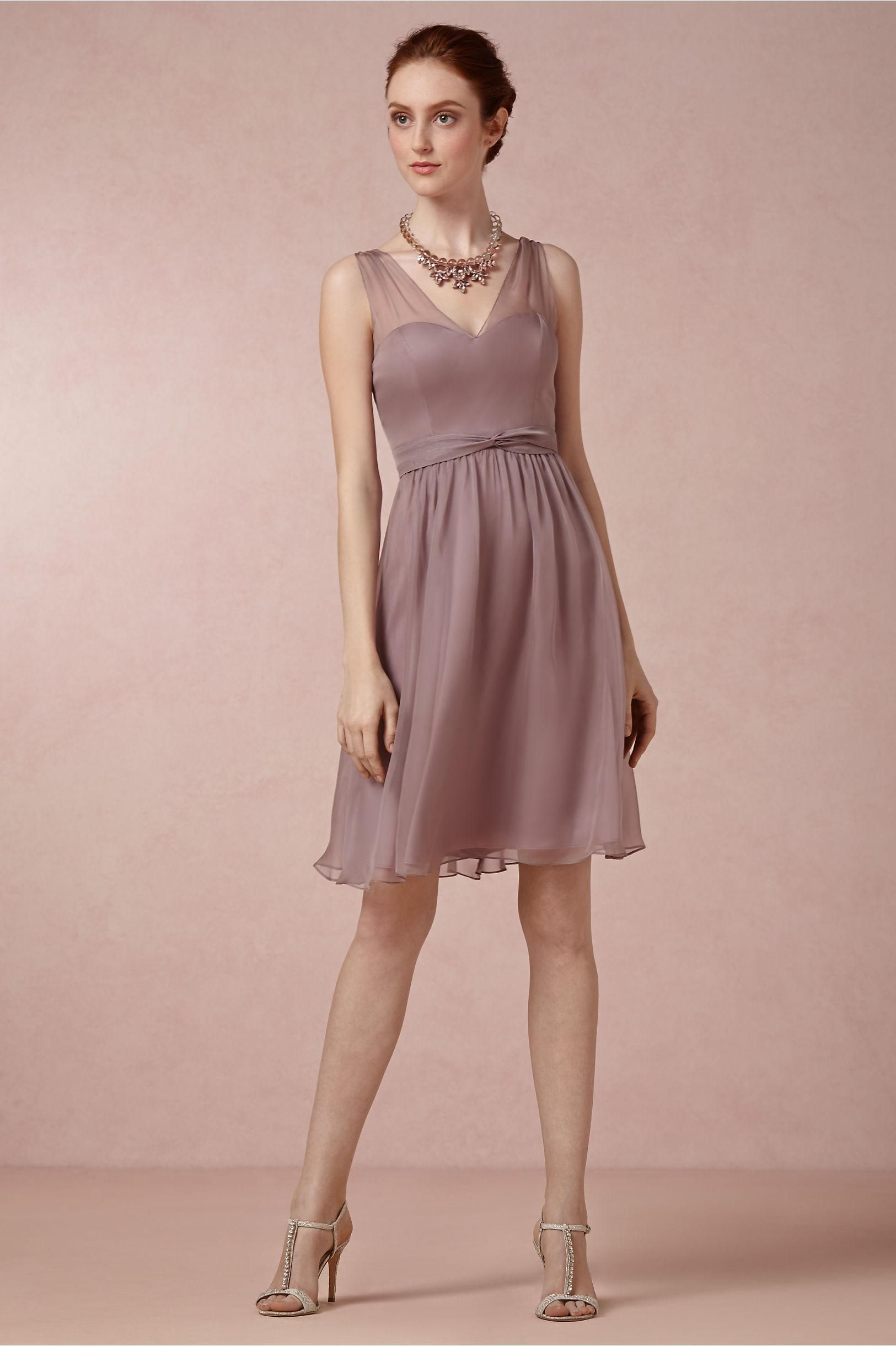 the Ainsley Bridesmaids Dress in Mauve Purple from BHLDN | Garden ...