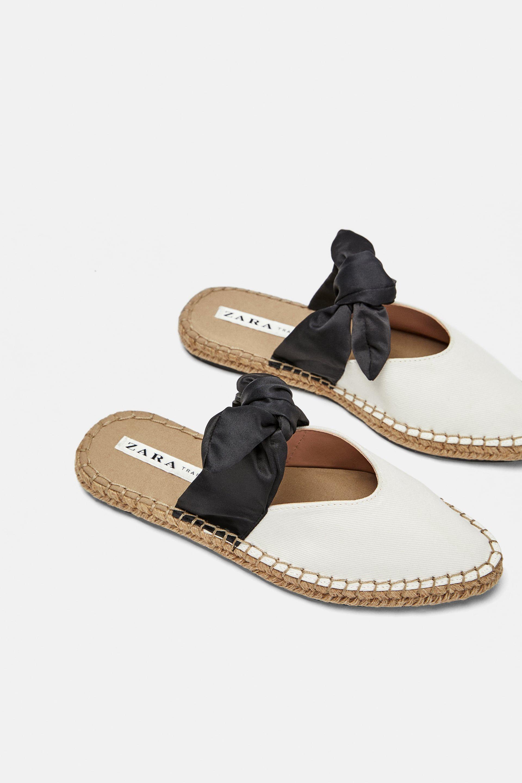 Mule natural lazo | Bow shoes, Cute sandals, Unique shoes