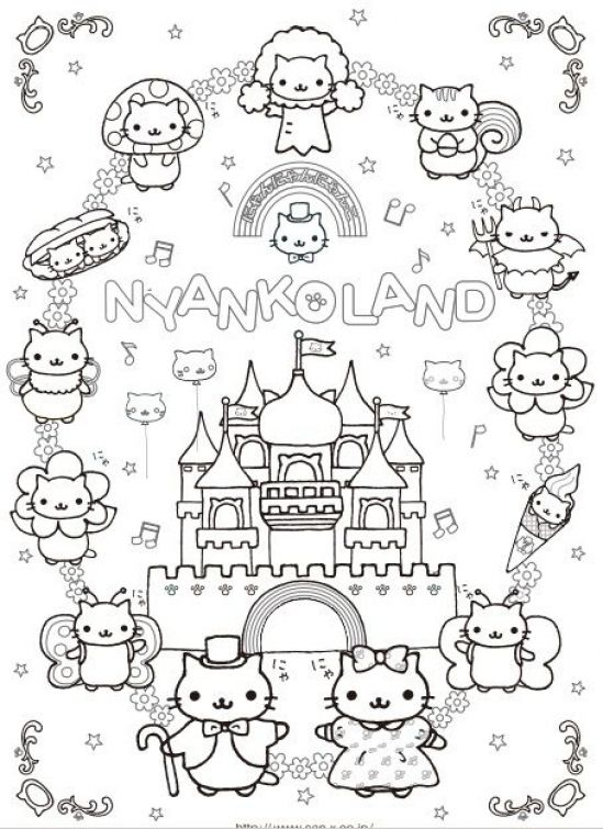 Free Printable Coloring Page Of Kawaii For Girls Letscolorit Com Coloring Pages Super Coloring Pages Cute Coloring Pages
