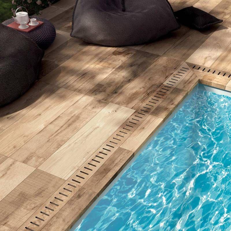 margelle piscine en gr s c rame imitation bois eguilles. Black Bedroom Furniture Sets. Home Design Ideas
