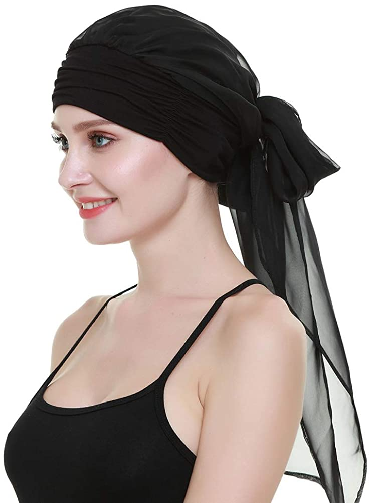 Amazon.com: Hair Turbans Hats for Cancer Women Wig Cap Long Hair Headwear Head Wraps Head Scarves: Clothing