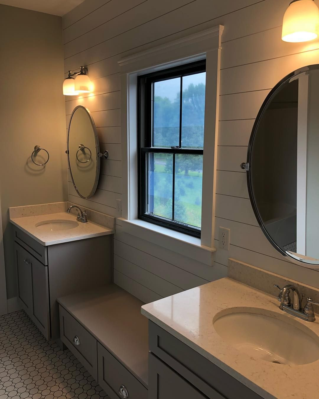 Jack And Jill Bath Complete Potterybarn Kensington Pivot Oval Mirror In Large And Me Modern White Bathroom Modern Master Bathroom Jack And Jill Bathroom