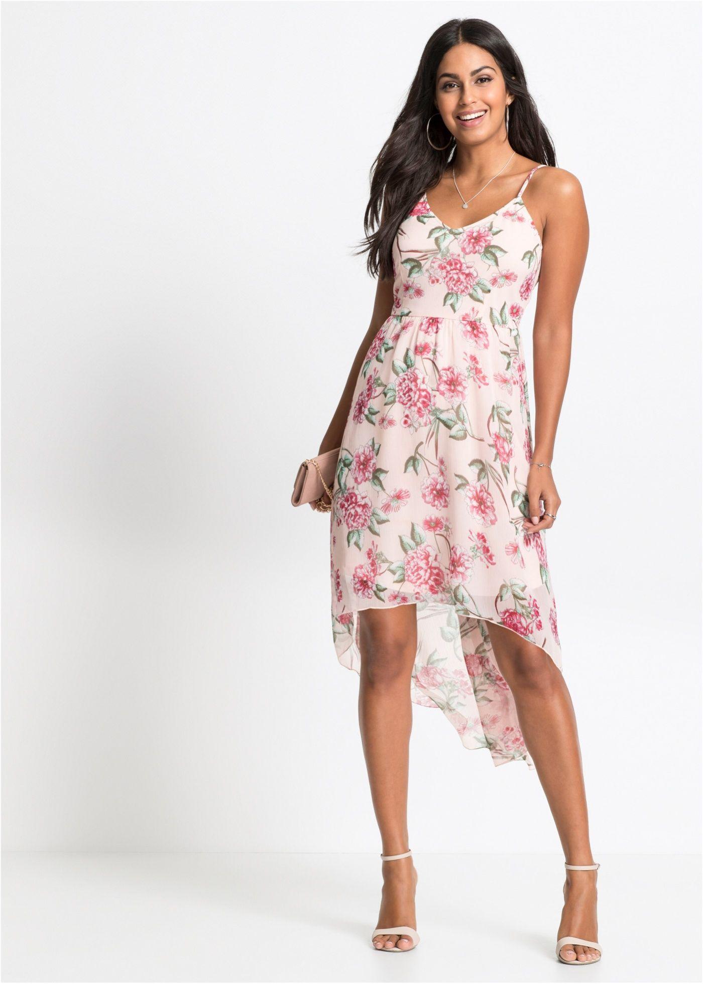 e097c9a93d8745 Kleid mit Blumenprint rosa geblümt jetzt im Online Shop von bonprix.de ab €  36