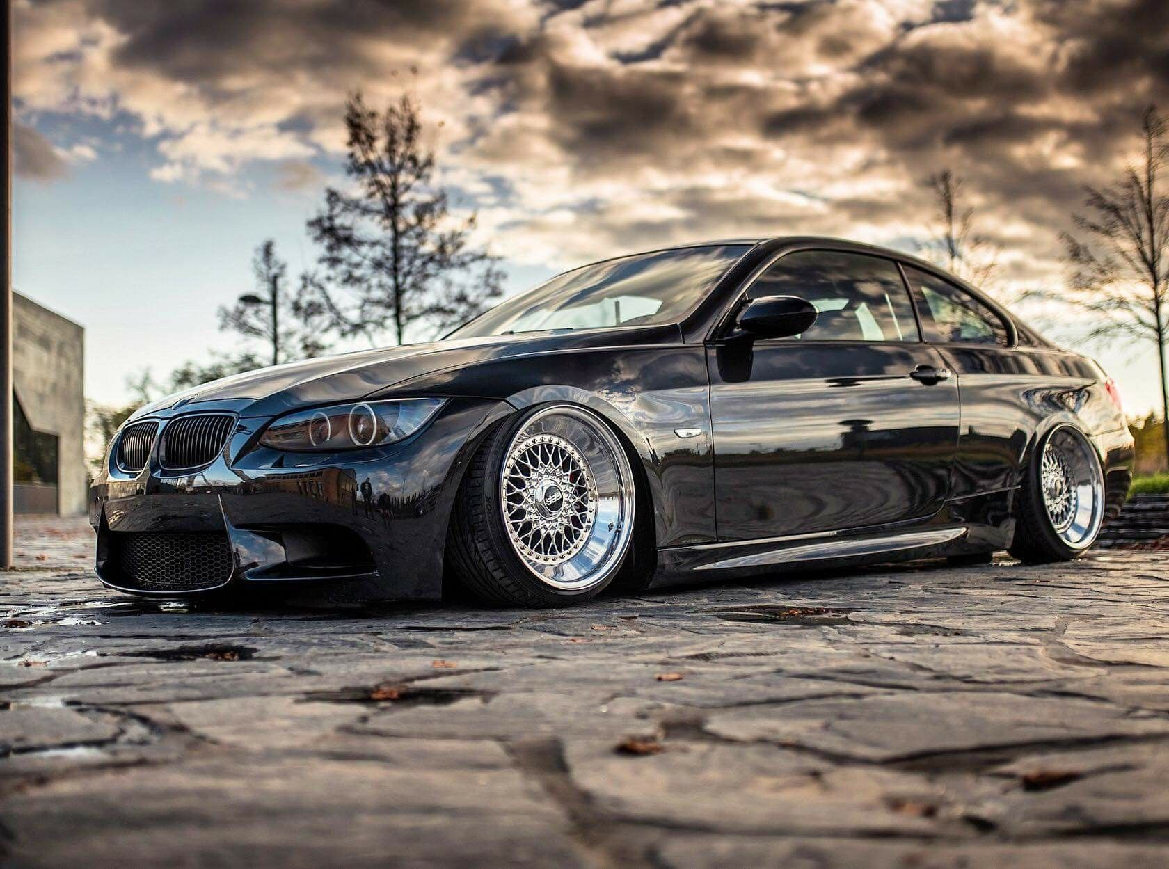 Bmw E92 3 Series Black Deep Dish Slammed With Images Bmw