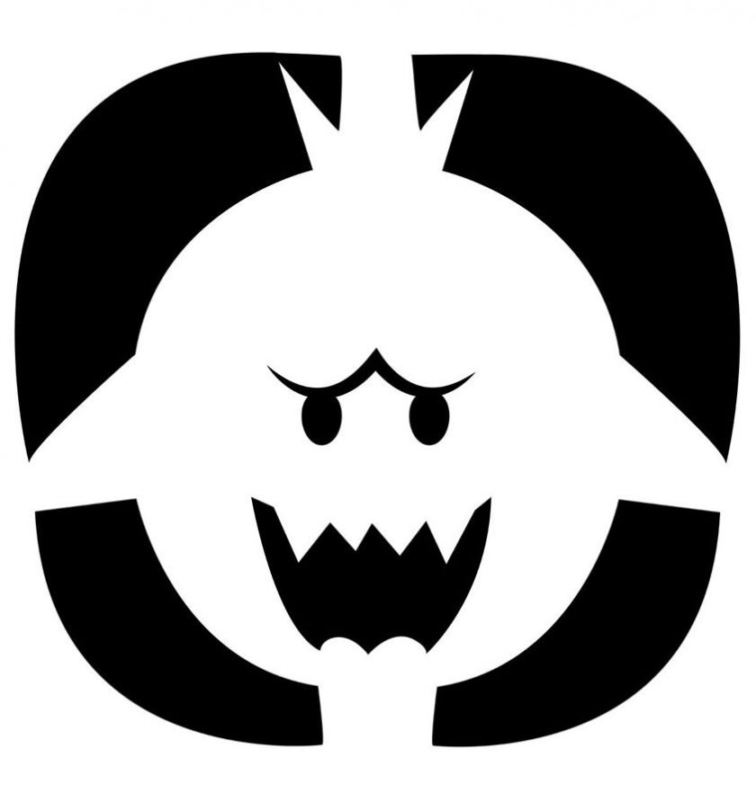 Nintendo Releases Official Pumpkin Carving Stencils Silluets - pumpkin carving template