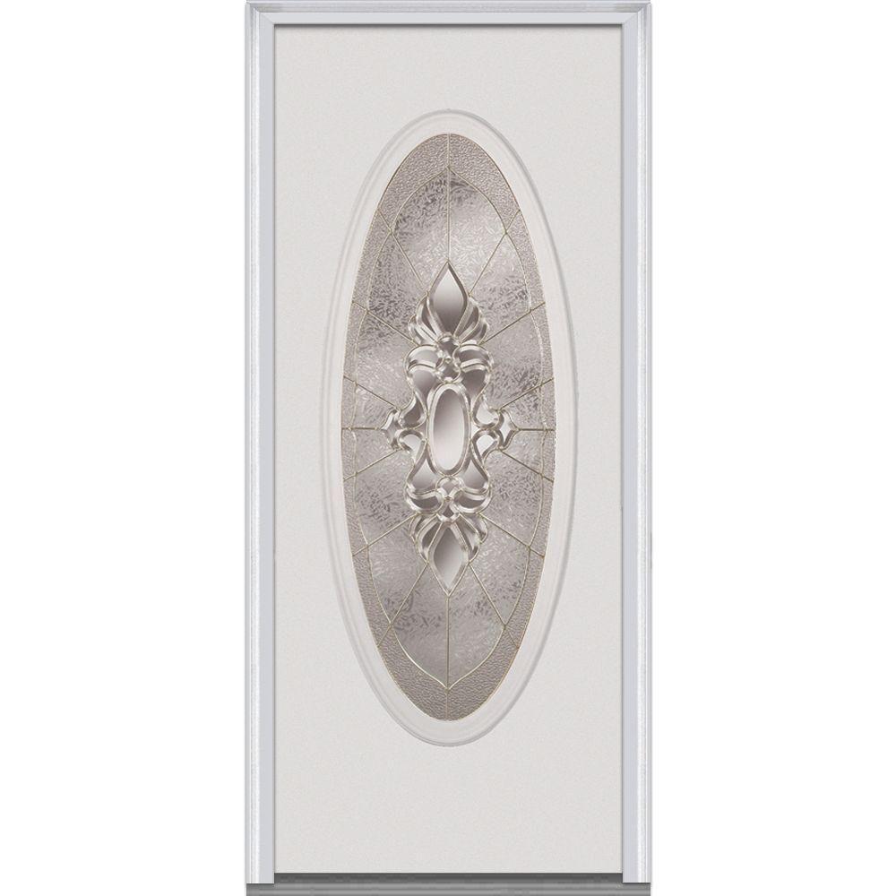 MMI Door 30 in. x 80 in. Heirloom Master Right-Hand Inswing Oval ...