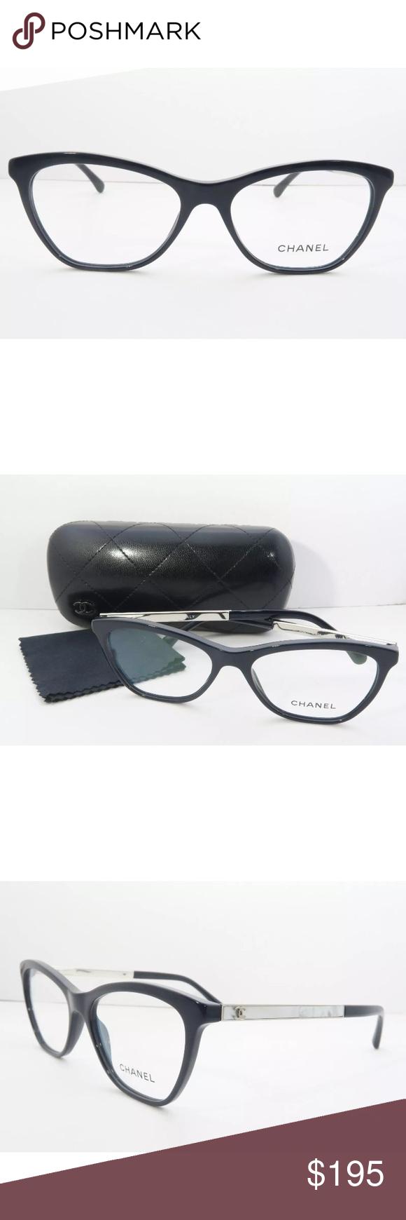 28a2931ec94b Chanel eyeglasses 3330 Blue Frame with Clear Lens New with clear lens Comes  with Chanel case