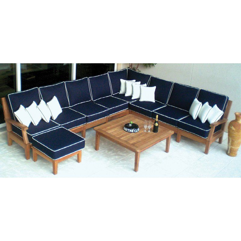 royal teak miami 8 piece sectional patio conversation set products rh pinterest com