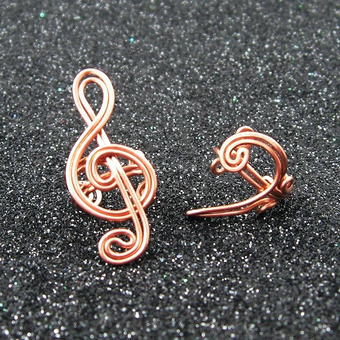 Music Notes Earring Cuff Ear