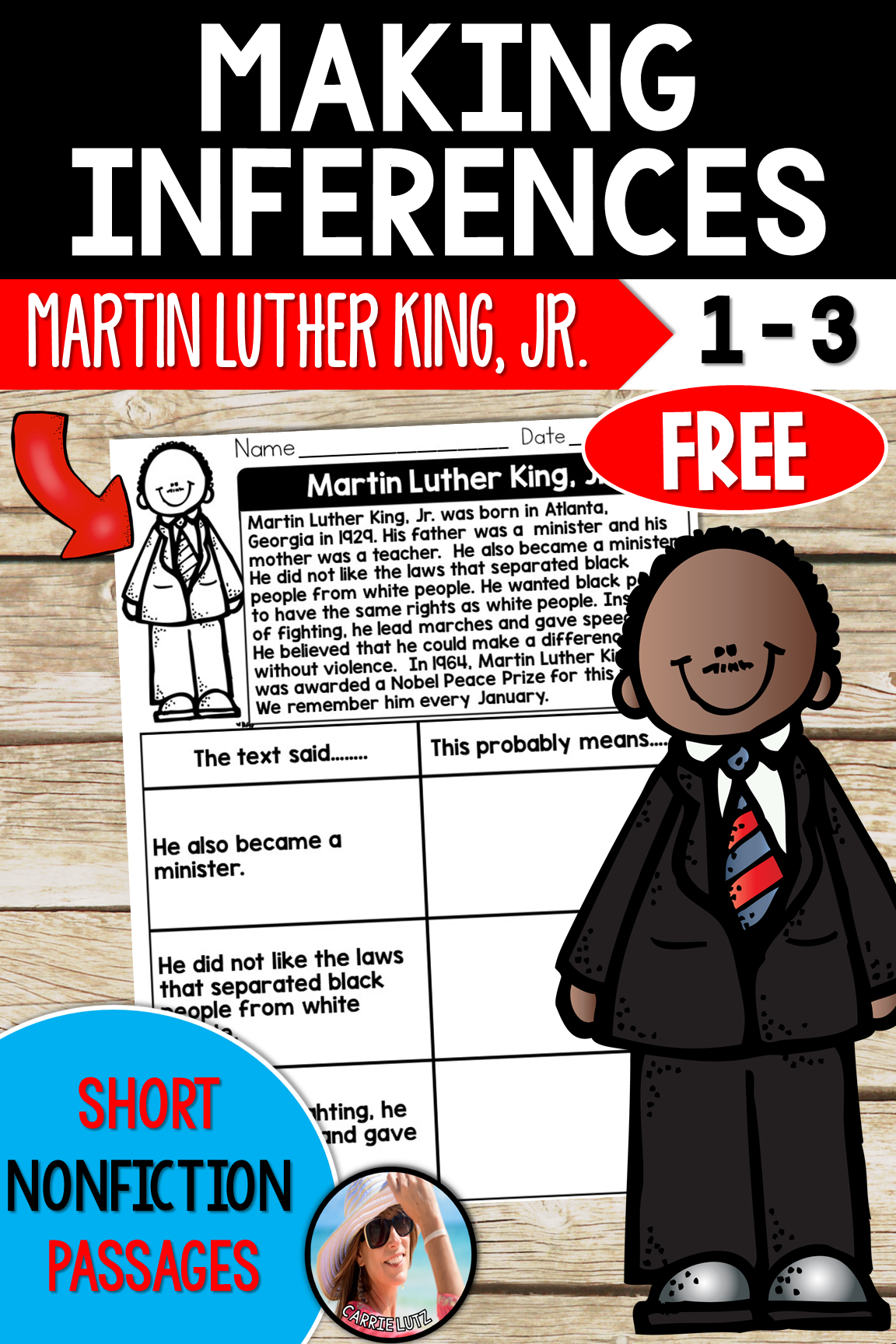 Martin Luther King Jr Passage Free