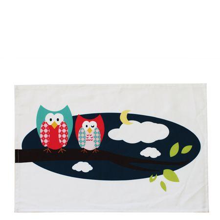 Little Owl Amerikan Servisi // 35 x 50 cm // %100 Pamuk // Yıkanabilir