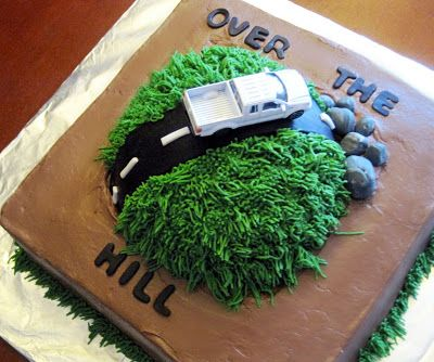 Have a Piece of Cake: Manly Over the Hill Cake
