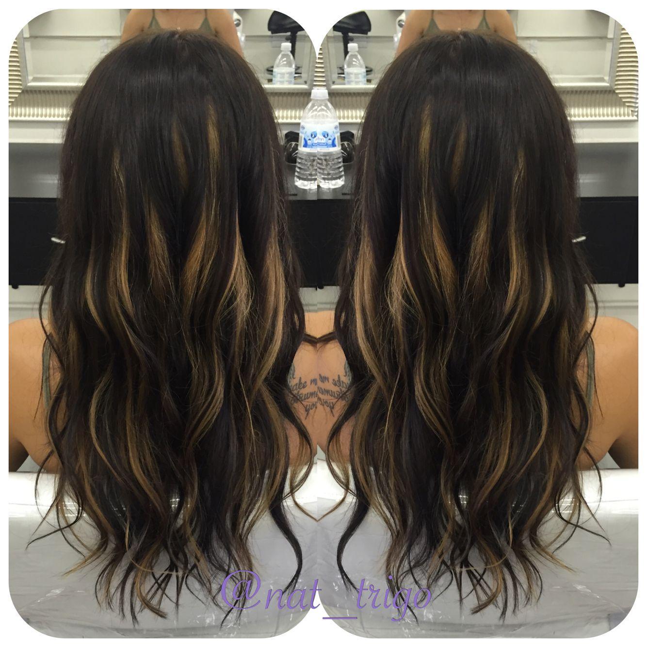 Peekaboo Highlights Peekaboo Hair Hairstylist Dark Hair With Highlights Peekaboo Hair Hair