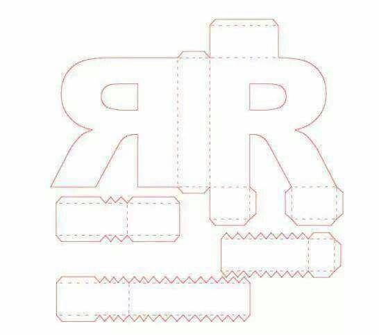 Letra D Caixas De Papel Scrap Pinterest D Silhouettes And - 3d letters template
