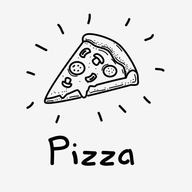 Slice Of Pizza Vector Illustration With Hand Drawn Style Pizza Doodle Vector Menu Clipart Pizza Slice Png And Vector With Transparent Background For Free Do Pizza Drawing Pizza Slice Drawing Pizza