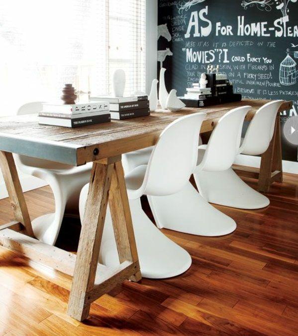 Stuhl Esszimmer Design panton chair weiß designer stühle esszimmer möbel holztisch möbel