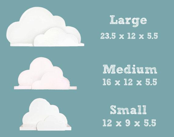 Nuage Plateau Collection Petites Moyennes Et Par Shoplittles 109 00 Cloud Shelves Wall Shelves Shelves
