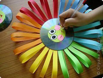 Детские поделки из дисков своими руками фото