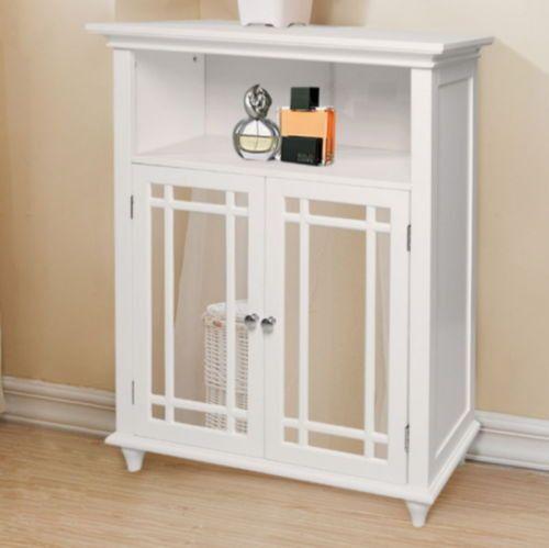Double Door Floor Cabinet With Shelves Modern Bathroom Furniture