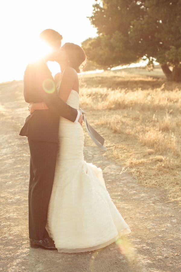 This magic hour wedding photo is GORGEOUS!
