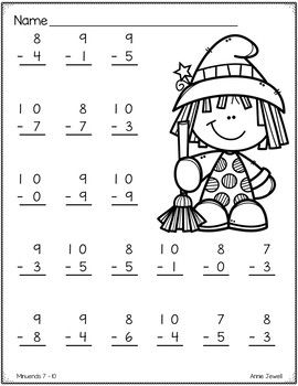 halloween addition and subtraction worksheets numbers     halloween addition and subtraction worksheets numbers