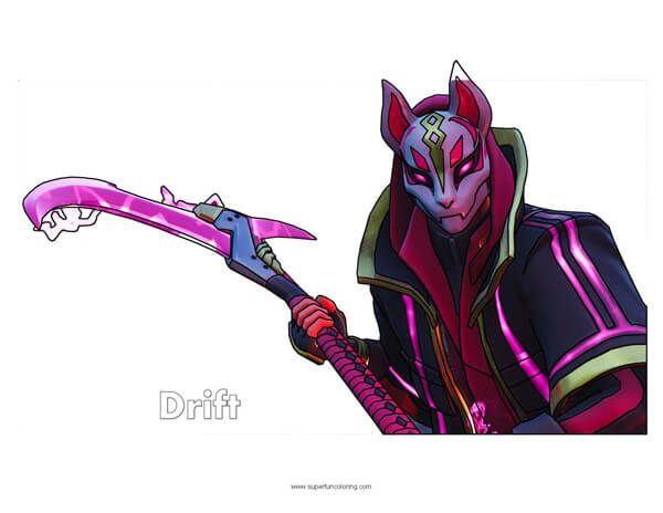 Fortnite Drift Coloring Page Fortnite In 2019 Arte Conceptual