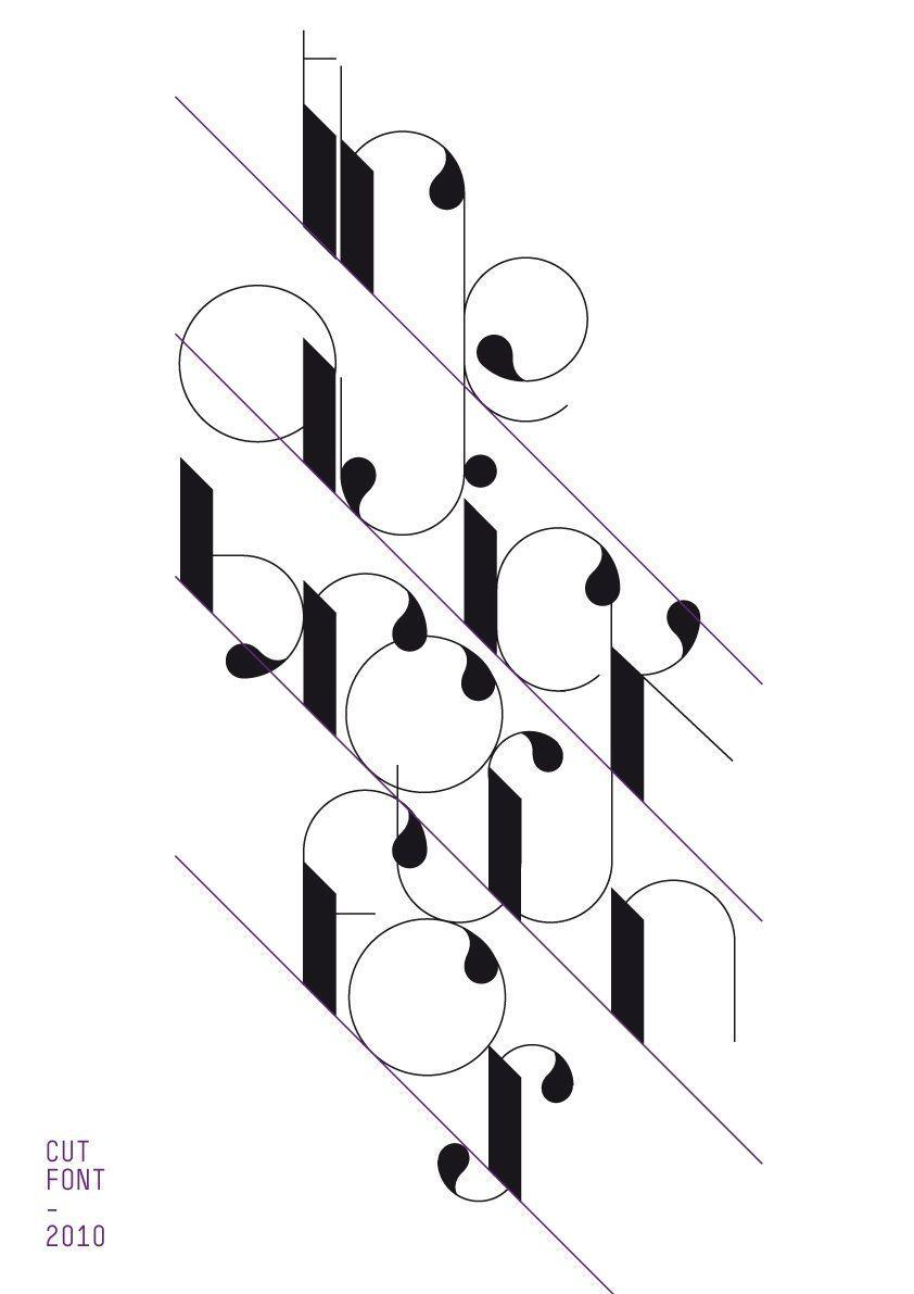 cut font