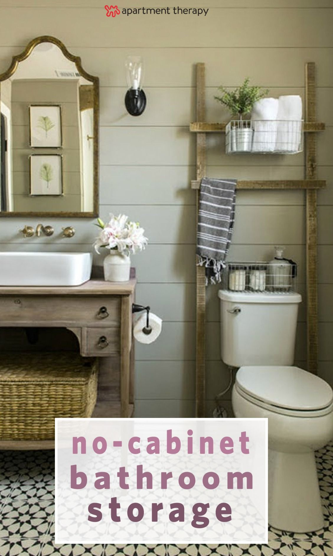 7 Ways To Organize A Bathroom Without A Medicine Cabinet Or Drawers Small Bathroom Remodel Beautiful Bathroom Renovations Bathroom Renovations